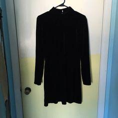 Velvet mini dress Lovely black velvet dress, size medium. I am 5'6 in modeled photo.   No holes or stains. No trades. Bundle for discounts!  Or shoot me an offer!! Dresses Mini
