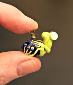 Ricky the Lime Green Glass Frog Bead Artisan by blancheandguy, $22.00