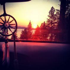 Sunset. Dream catcher