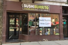 Sushi Burrito is now open in Lakeview at 2904 N. Broadway.