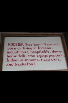 """If you're from Indiana you are considered a """"Hoosier."""" I lived in Indiana from birth till I was about 17 or so. Indiana Love, Indiana Girl, Indiana State, What Is A Hoosier, Hoosier Mama, Iu Hoosiers, Indiana University, South Bend, My Childhood Memories"""