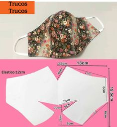 Easy Sewing Projects, Sewing Hacks, Sewing Tutorials, Sewing Crafts, Easy Face Masks, Diy Face Mask, Crochet Mask, Diy Mask, Fashion Face Mask