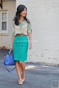 44. Lots of #Color - 44 Professional and #Sophisticated Office Outfits You Will Love ... → #Fashion #Outfits