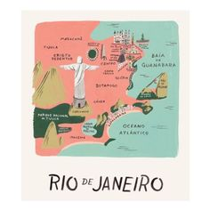 Illustrated Map of Rio - Fly