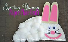 Spring Bunny Paper Plate Craft
