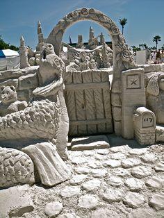 Sand art: Front Gate by amazin walter, via Flickr ... garden gate sculpture