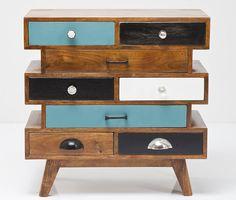 Retro kast Malibu S Kare design Kare Design, Upcycled Furniture, Wood Furniture, Dresser Furniture, Retro Furniture, Unusual Furniture, Furniture Storage, Pine Dresser, Kitchen Dresser
