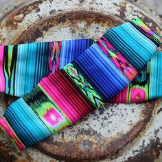 Bright colored serape headband! Blame it on Mexico is made in the USA!