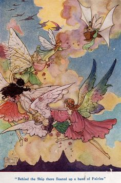 Behind the Ship there floated up a band of Fairies