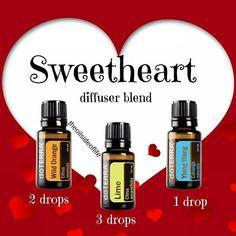 Sweetheart essential oil diffuser blend mydoterra.com/louisegull