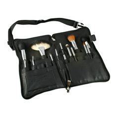 Vortex Professional Makeup Brushes with Zipper Belt