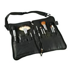 Vortex Professional Makeup Brushes with Zipper Belt