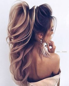 22 + 2019 year wonderful bridal hair designs, 22 + 2019 year wonderful bridal hair designs - 1 Are you even more confused when you look at… in 2020 Bride Hairstyles For Long Hair, Ponytail Hairstyles, Wedding Hairstyles, Cool Hairstyles, Elegant Wedding Hair, Wedding Hair And Makeup, Hair Makeup, Hair Wedding, Hair Designs