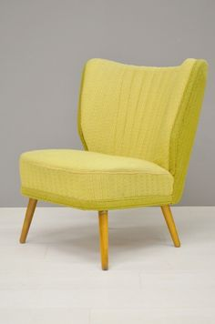Cocktail Chair, Mid Century Chair, Wing Chair, Take A Seat, Upholstered Chairs, Furniture Decor, Mid-century Modern, Accent Chairs, Upholstery