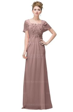 Bridal Rose Casual A-line Square Short Sleeve Floor Length Plus Size Bridesmaid Dresses is available at colorsbridesmaid.com. The A-line, Floor Length, Flower and Chiffon make the best Bridesmaid Dresses.