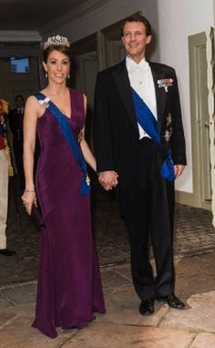 Princess Marie and Prince Joachim of Denmark attends a gala dinner at Fredensborg Castle on 4 April 2013