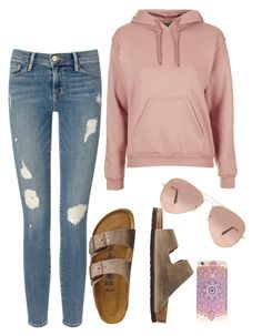 """""""Untitled #5"""" by slrw on Polyvore featuring Frame Denim, Topshop, TravelSmith and Ray-Ban"""