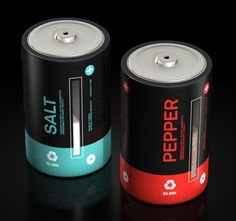 Salt & Pepper Cells - Rechargeable power for your dining table. I WANT.