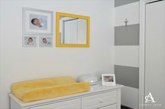 Yellow + Grey Gender Neutral Nursery