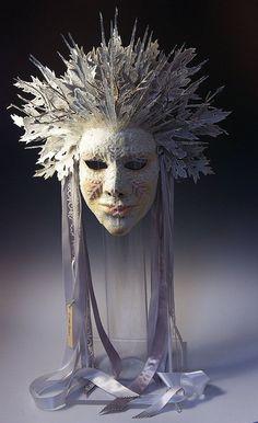 Winter's Empress by TheArtOfTheMask on Etsy Snow Queen, Ice Queen, Halloween Masks, Peacock Halloween, Makeup Pics, Makeup 101, Makeup Quotes, Victorian Goth, Queen Costume