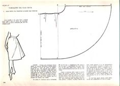 Free Vintage Skirt Sewing Draft Pattern / Tutorial