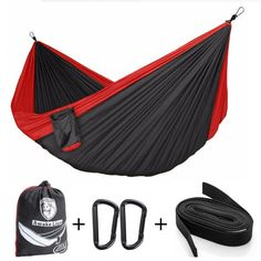 Camping Hammock ,Awakelion Premium Outdoor Double Hammock With Mosquito Net and  #Awakelion