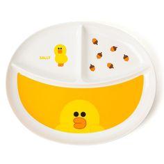 Line Friends Official Goods 1P Sally Melamine Divided Plate Dinnerware Dish  #LineFriends