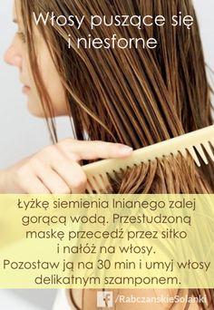 Siemię lniane to świetny materiał na maskę, która pomoże ujarzmić Twoje włosy. Bobby Pins, Spa, Hair Accessories, Hair Pins, Hair Barrettes