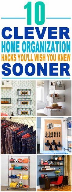These are the most AMAZING home organization hacks I've seen till now. These home organization tips and tricks will make my life so much easier. Pinning for sure.
