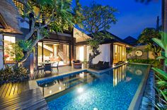 Villa Canthy charming 2 bedroom villa with lush gardens, sparkling pool and lotus ponds is an affordable villa option. #Seminyak #Bali