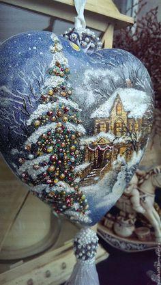 36 Super ideas for diy christmas ornaments painted gifts Diy Christmas Baubles, Painted Christmas Ornaments, Hand Painted Ornaments, Diy Christmas Gifts, Christmas Bulbs, Christmas Decoupage, Christmas Paper Crafts, Christmas Art, Christmas Projects