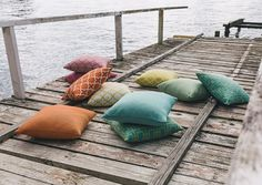 The Greek Isles collection by Pegasus. Available from James Dunlop Textiles. Outdoor Lounge Cushions, Custom Outdoor Cushions, Patio Cushions, Outdoor Chairs, Indoor Outdoor Living, Outdoor Areas, Outdoor Life, Outside Living, Outdoor Settings