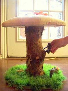 Buy 3 Get 1 Free - 4 Toad Stools Mushroom Chairs fairy gnome toadstool room decor princess children boy girl UNIQUE OOAK Handmade kids $239.97