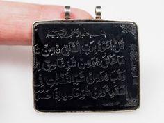 islamische Gagat Amulett Talisman Anhänger aus von KabulGallery