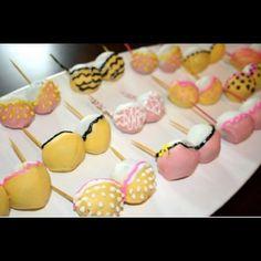 Cake pop bras for bridal shower!