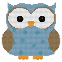 This cross stitch pattern is of a blue spotted owl. This pattern will give you a completed piece measuring approximately 5x5 inches when stitched on 14 count cloth. It is 70x69 stitches. This fits great in a round hoop. After purchase, the pattern will be emailed to you as a PDF file with symbols and floss list. Dont have time to stitch this yourself, I would be willing to stitch it for you. Please allow 1-2 weeks for me to complete the stitching. After it is completed, I will make a custom…