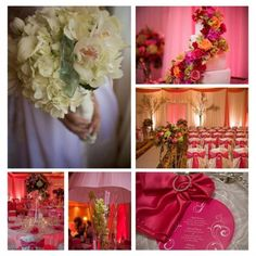Pink Wedding. Perfect for a romantic, Valentines Day wedding