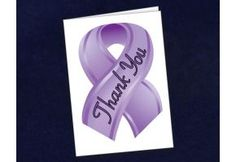 Small Purple Ribbon Thank You Card - (STY-4) THANK YOU MOMMY!