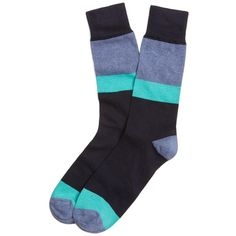Brooks Brothers Color-Block Crew Socks $15