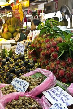 Try some weird and wonderful exotic fruits from a market in #Bangkok. They might look bizarre but they are tasty - honest!