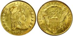 1799 Capped Bust $10 Gold PCGS MS66 CAC sold for $493,500 at the Stack's Bowers Galleries Auction at the Whitman Expo in Baltimore, Maryland, March 30 - April 6, 2016... For many observers the highlight of this sale was the 1799 Capped Bust $10 Gold in PCGS MS66 with the CAC sticker...it is the highest certified for this date....