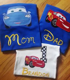 Lightning McQueen Family Cars Disney Shirt Pixar by GumballsOnline