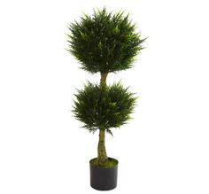 Nearly Natural / 4' Double Ball Cypress Topiary UV Resistant (Indoor/Outdoor) / $134.99