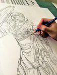 Halo Spartan in Recon Armor, progress pic of initial sketch :)
