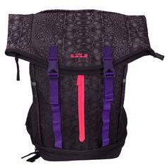 5542d48498ee Nike LeBron Ambassador James Purple Mens Basketball Backpack BP Bag  BA4750-566 Lebron James Backpack