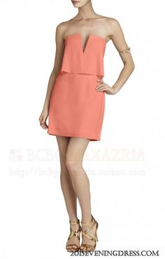 BCBGMAXAZRIA KATE STRAPLESS RUCHED-SKIRT DRESS CAROL