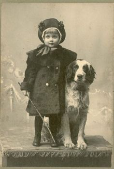 J578-Adorable-Pretty-Girl-Dressed-Up-Her-Dog-by-Northrup-Griggsville-IL
