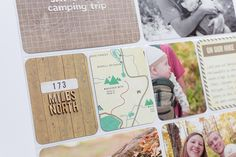 Love the idea of adding a map - Project Life 2010 : Great Outdoors