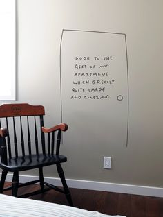 wall need a bit of humor in our interior :-)