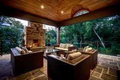Relax by the fire under your covered porch | 249 Dunwoody, Oakville